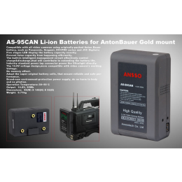 Ansso AS-95CAN Gold Mount Li-ion Battery 95Wh