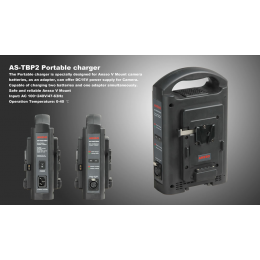 Ansso AS-TBP2 Dual-channel V-mount Charger / Adapter
