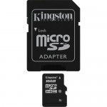 Kingston 16GB Class-10 Micro SDHC Memory Card with SD Adapter