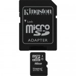 Kingston 16GB Class-4 Micro SDHC Memory Card with SD Adapter