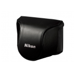 Nikon Leather Body Case Set for Nikon 1 J1 Camera with 10-30mm Lens (Black)