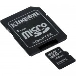 Kingston 32GB Class-4 Micro SDHC Memory Card with SD Adapter