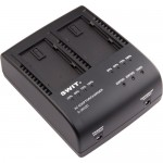 Swit S-3602D Dual Charger/Adapter for Panasonic VW-VBD58/CGA D54S & D28S Batteries
