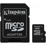 Kingston 4GB Class-4 MicroSD Memory Card with SD Adapter