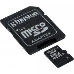 Kingston 4GB Class-10 Micro SDHC Memory Card with SD Adapter