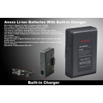 Ansso AS-130CAN-C Gold Mount Li-ion Battery With Built-in Charger