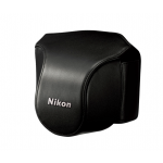 Nikon Leather Body Case Set for Nikon 1 V1 Digital Camera with VR 10-30mm Lens (Black)