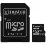 Kingston 16GB UHS-I microSDHC Memory Card with SD Adapter