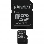 Kingston 8GB Class-10 Micro SDHC Memory Card with SD Adapter