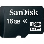 SanDisk 16GB Class-4 Micro SDHC Memory Card with SD Adapter