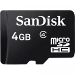 SanDisk 4GB Class-4 Micro SDHC Memory Card with SD Adapter