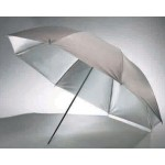 "Boling  White & Silver Double Flash Umbrella  33""/36""/40""/43"""