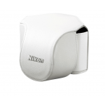 Nikon Leather Body Case Set for Nikon 1 V1 Digital Camera with VR 10-30mm Lens (White)